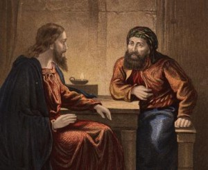 Circa 33 AD, Nicodemus visits Jesus by night and addresses him as 'Rabbi'. (Photo by Hulton Archive/Getty Images)